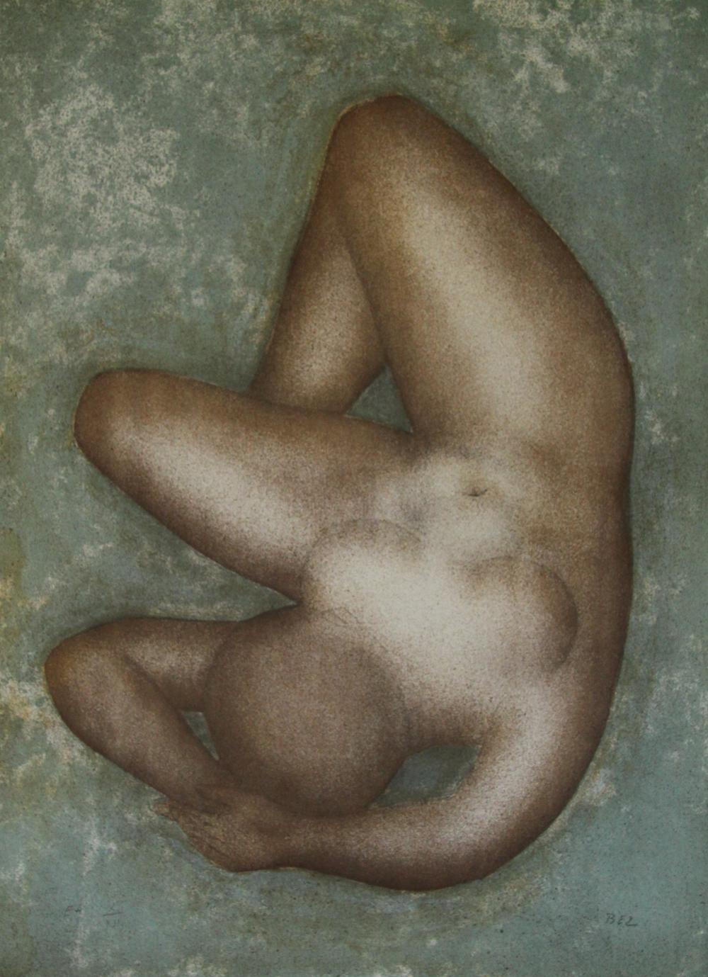 Galerie Photo Nue >> Femme Nue Lithographie Originale Signee De Bez Michel Bez Michel