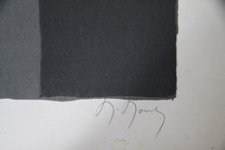 Femme la fen tre lithographie originale sign e de mouly for Fenetre originale