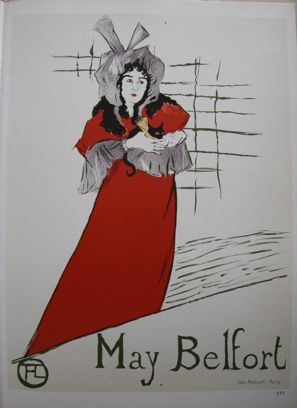 09396fb3fdd May BELFORT 1895   Lithographie originale signée de TOULOUSE LAUTREC Henri  de
