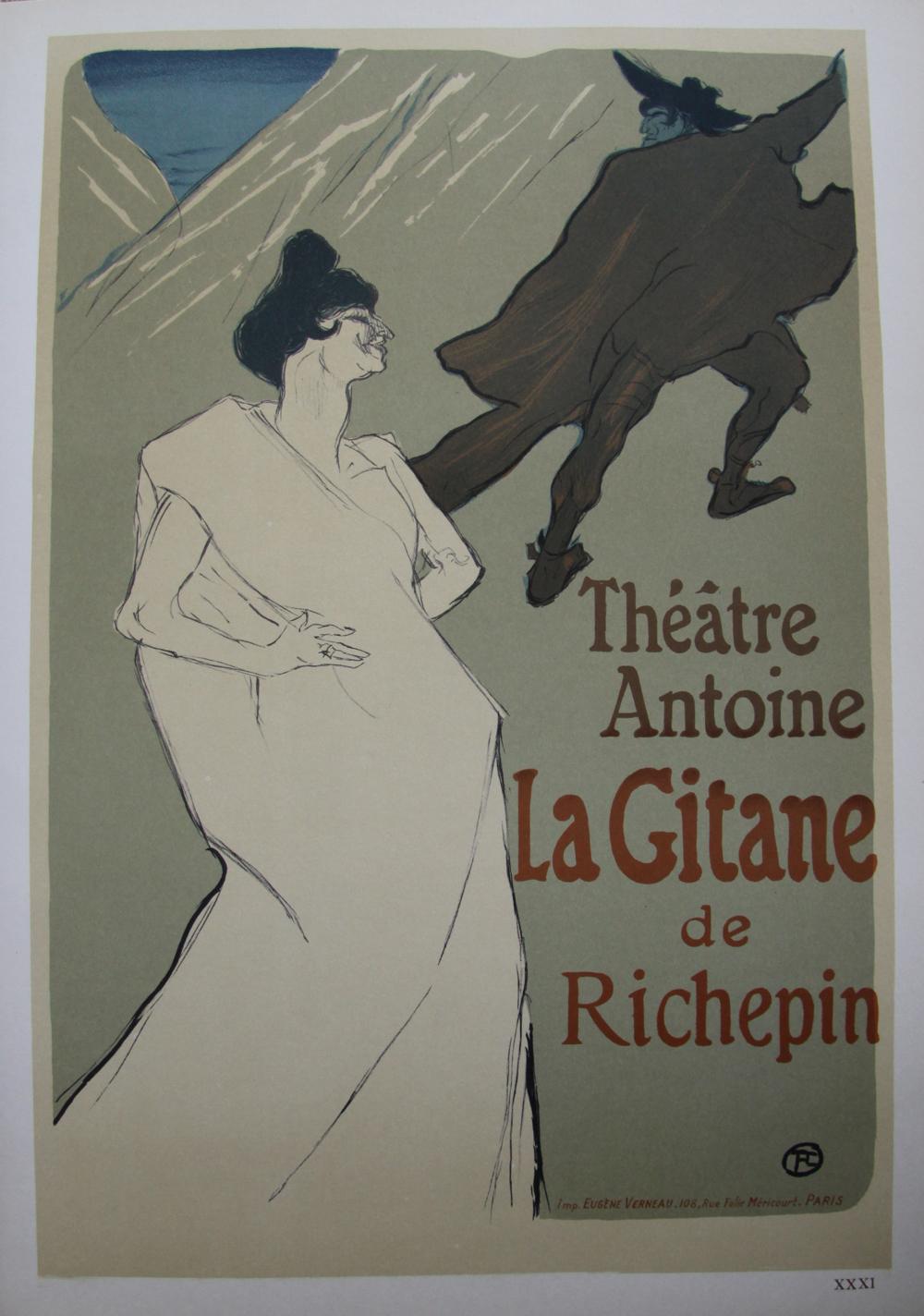 24ecdec5e67 La gitane 1900   Lithographie originale signée de TOULOUSE LAUTREC Henri de