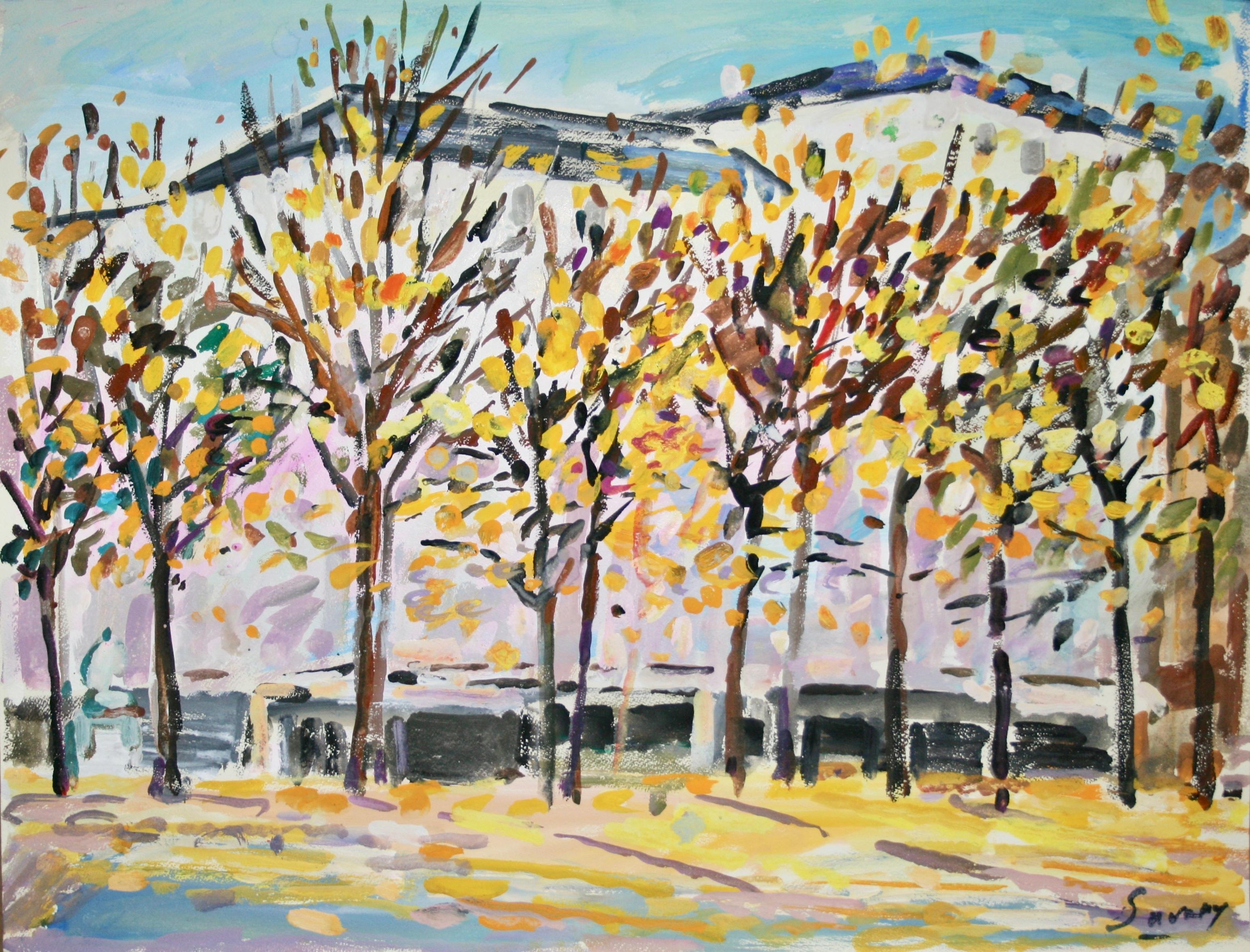 Peintres Ecole De Rouen robert savary - peinture originale - gouache - les beaux arts de rouen